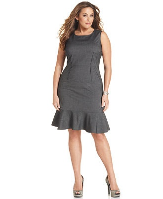 DKNYC Plus Size Dress, Sleeveless Flounce Sheath 14w thru 24w $106.99: Nice Dresses, Dresses Option, Dknyc Sleeveless, Plus Size Dresses, Flounce Sheath, Dknyc Dresses, Macy'S 103 99, Grey Dresses