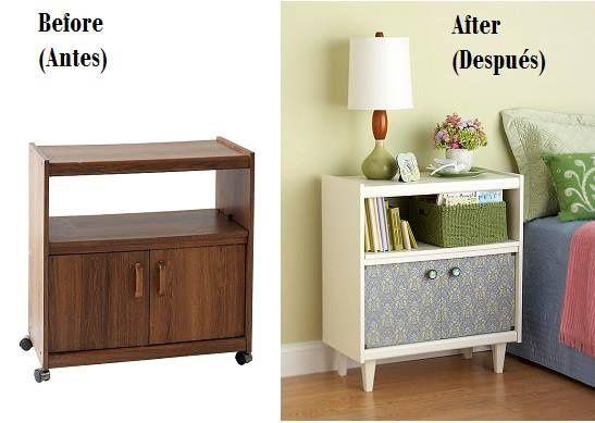 Ejemplos del antes y después de restaurar los muebles | Decora y diviértete