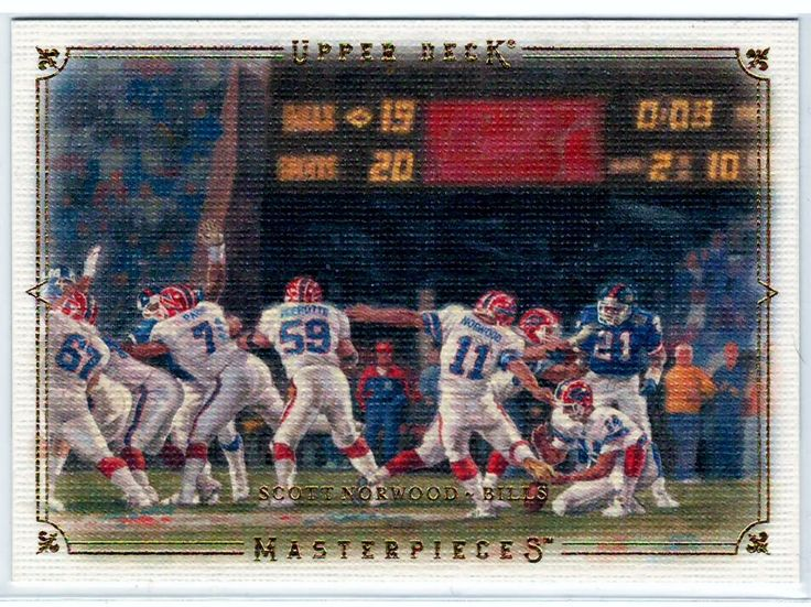 2008 UD Masterpieces Scott Norwood # 79 - Football Trading Cards