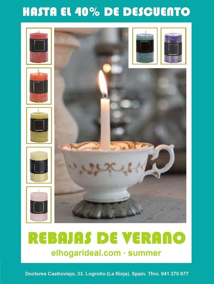 Decoracion online, el hogar ideal, rebajas 47, velas de colores, candelabros, portavelas. elhogarideal.com