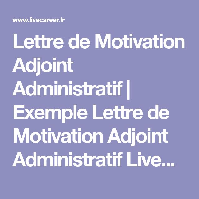17 best ideas about exemple lettre de motivation on pinterest