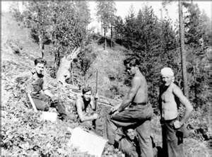 The Civilian Conservation Corps. operated from 1933-1942.  It provided work for unemployed, unmarried men from relief families. Workers were between the ages of 17 and 23.