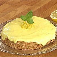 Mandelbunn med sitronkrem -
