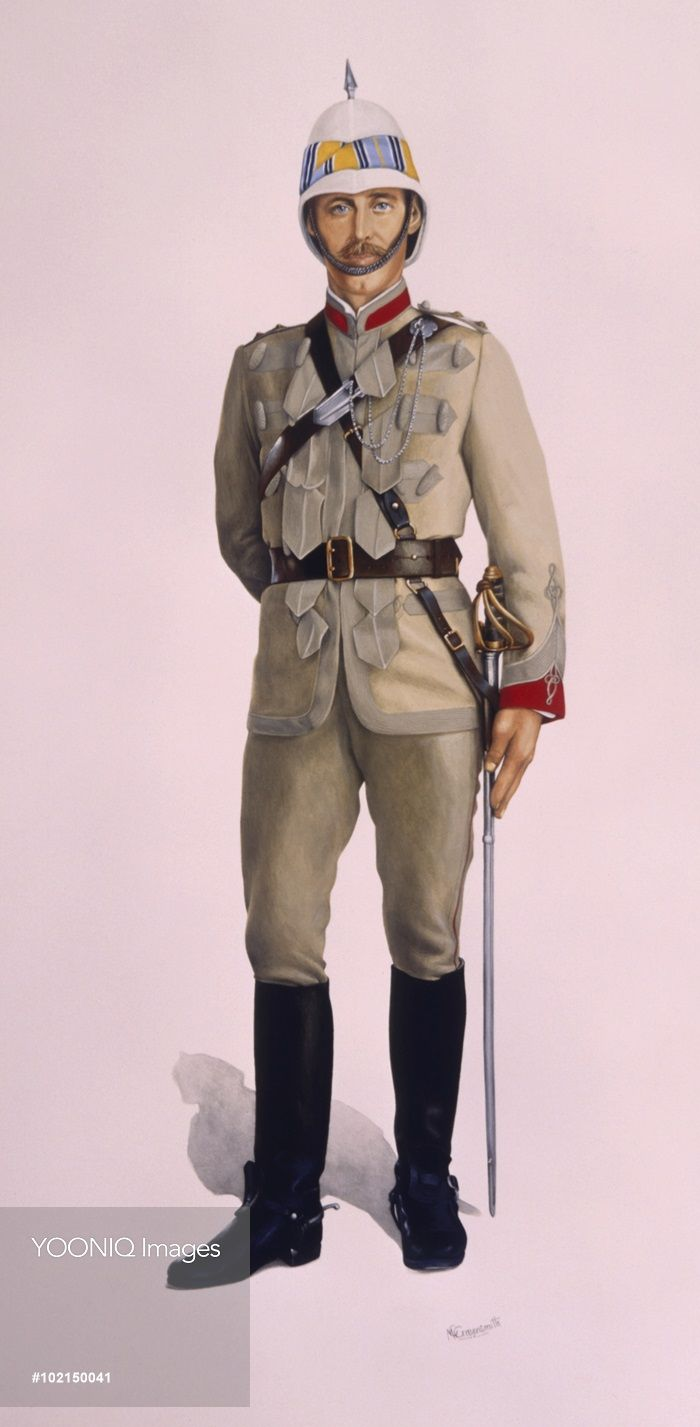 A British Officer (Captain) of the Queen's Own Corps of Guides. Painting by…