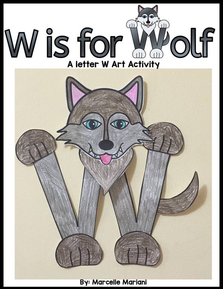 Letter W Art Activity- W is for Wolf