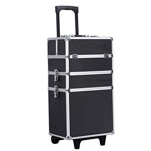 Songmics® Malette Maquillage trolley 4-in-1 Aluminium boîte à maquillage Beauty Case professionnel Noir JHZ01B: Tweet Etês-vous encore…