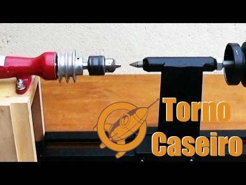 Como fazer um torno para madeira caseiro - Início - YouTube