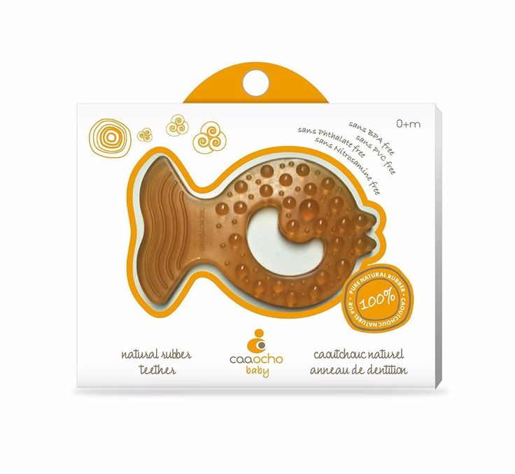CaaOcho All Stage Natural Rubber Teether Fish - BubbaBeans Online Baby Store Canada