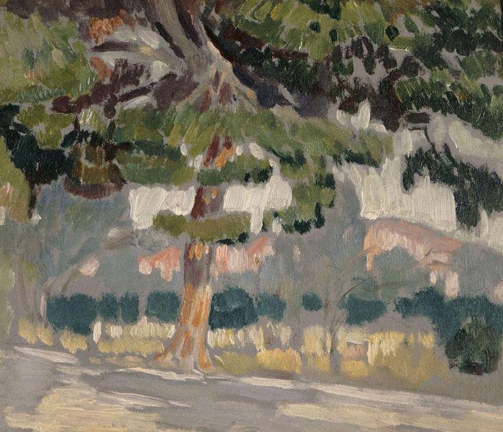 kaufen Gemälde'landschaft' von Konstantinos Parthenis - Kaufen Sie eine handgemalte Ölreproduktion , Kunstreproduktion, Ölgemäldereproduktionen, Kunst auf Leinwand, Kunstwerksreproduktion, Leinwand Ölgemälde Reproduktion Kunstwerk