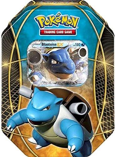Pokemon Power Trios Tins features 1 special foil Blastoise-Ex card, 4 Pokemon TCG booster packs and 1 Bonus Pokemon TCG Online Code Card. This listing is for th