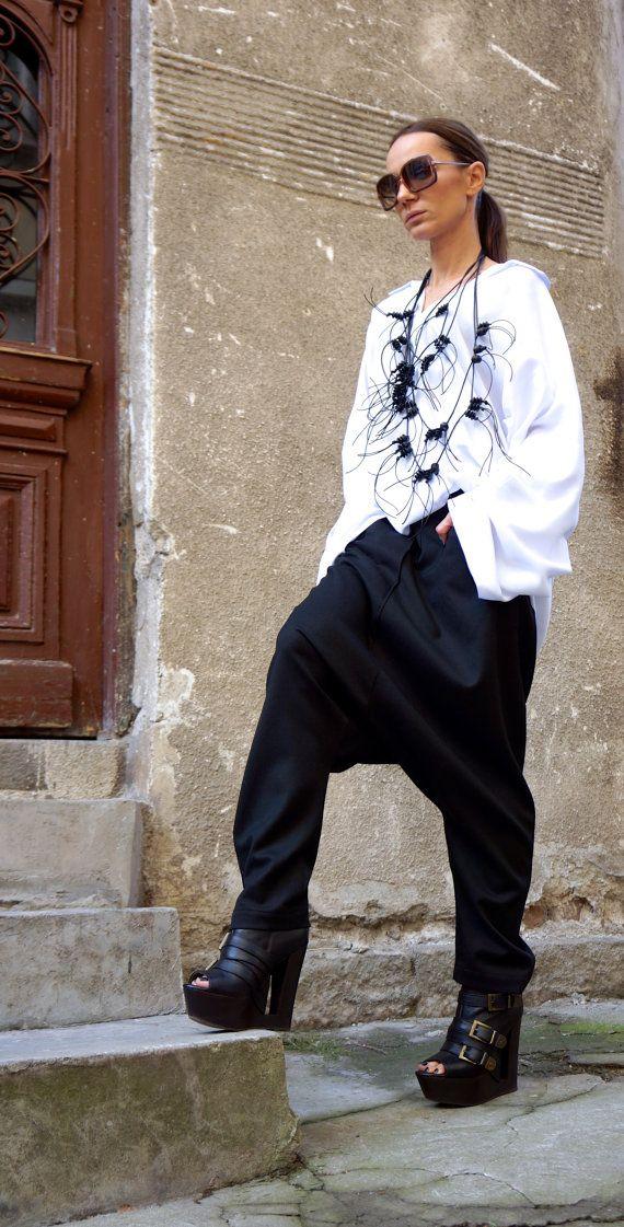 Nouvelle chemise Loose blanc / asymétrique chemise / par Aakasha