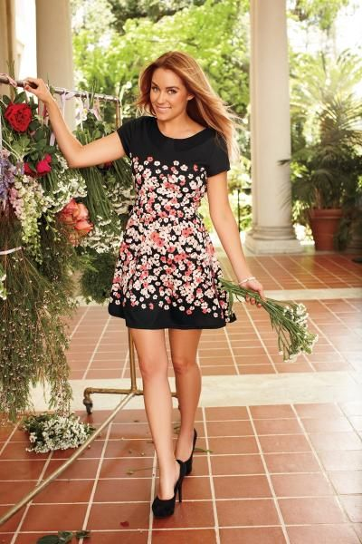 LC Lauren Conrad fall collection {floral dress}