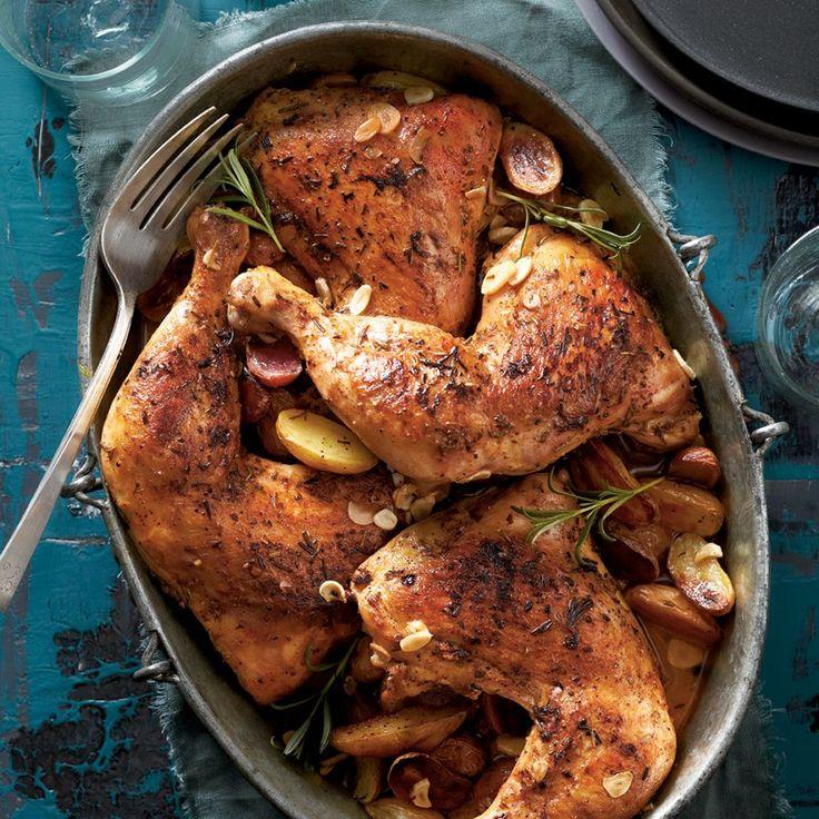 Rosemary-Garlic Chicken Quarters Recipe | MyRecipes