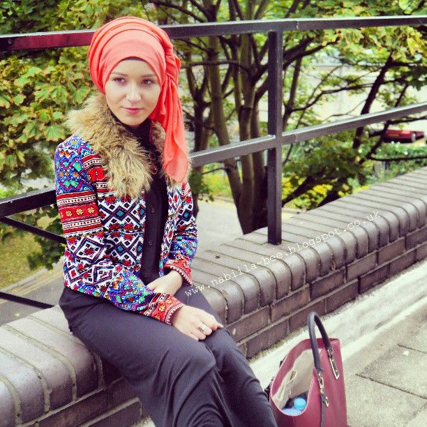 I am so in love with this jacket from primark!! So beautiful #fur #primark #zara #hijabi #maxidress #hijab
