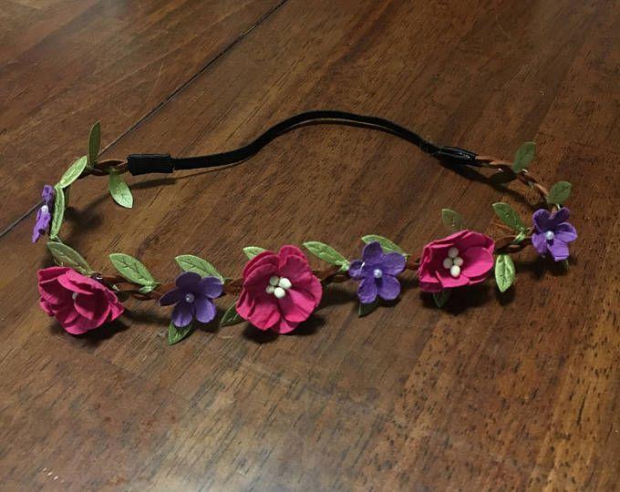 Fascia floreale - rosa/viola
