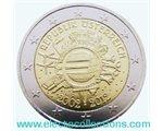 Austria - 2 Euro, dieci anni delle monete e banconote in euro, 2012