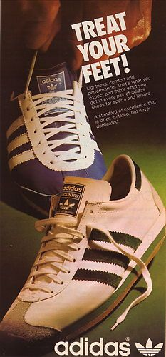 1975 Adidas Trainers I had a pair of these white ones with red stripes .....loved them!