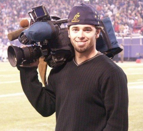 Filming the New York Giants at Giants Stadium for Fox News out of Albany.  Circa 2004.