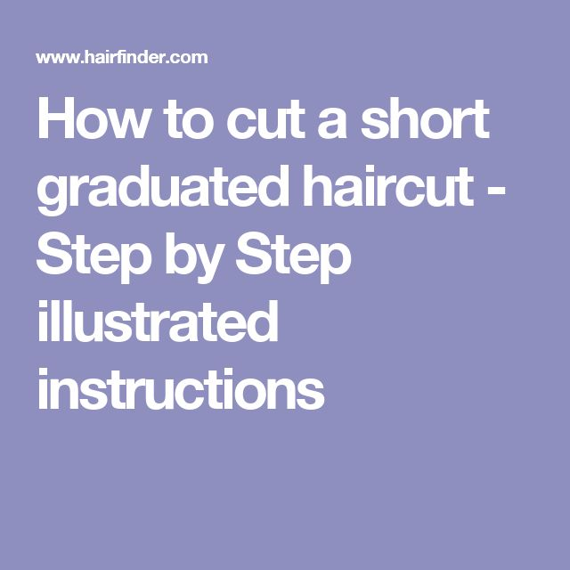 haircut step by step instructions