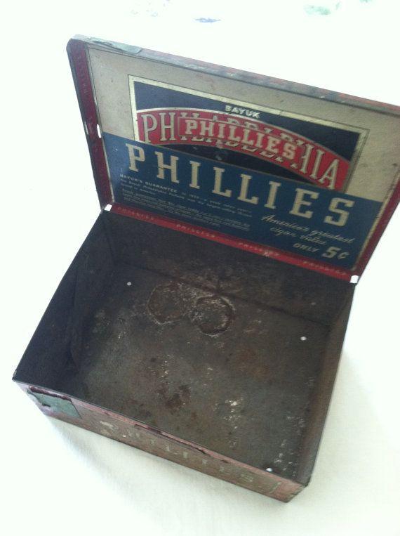 Antique Bayuk Philadelphia Phillies Cigar Tin by MariasFarmhouse, $22.00