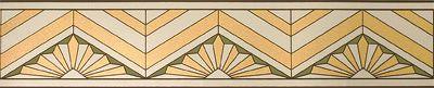 Art Deco Borders---Metropolis in Golden Olive by Bradbury & Bradbury