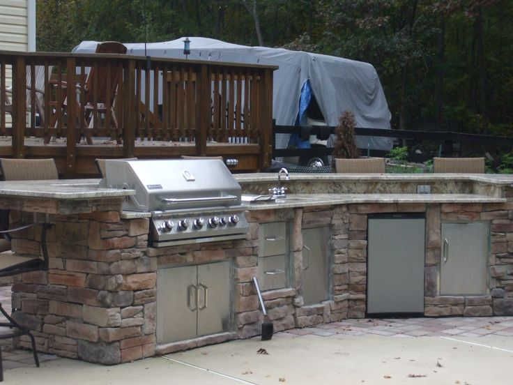 Christina And Lee Used BBQ Coach Frame Kit To Build This Beautiful Outdoor  Kitchen With Stone