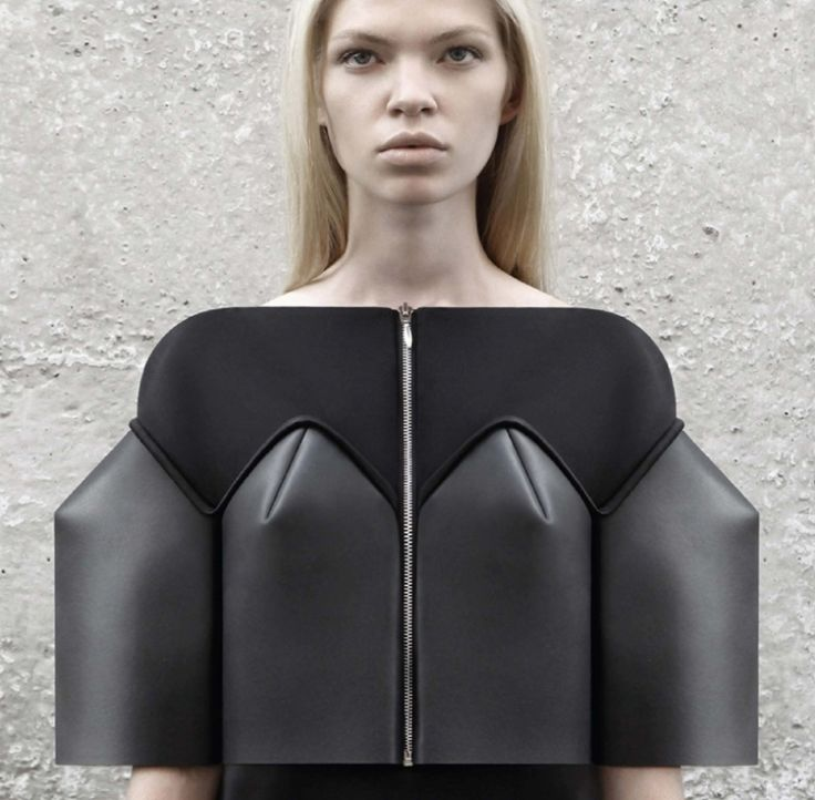 Sculptural Fashion - neoprene dress with structured silhouette; innovative fashion design // DZHUS