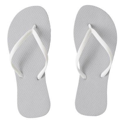Plain Flamingo Love Grey flip flops - plain gifts style diy cyo