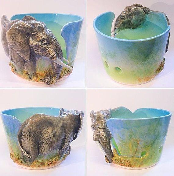 Tazón de fuente de hilo elefante.