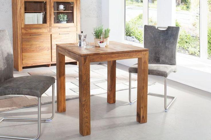 Drewniany stół w kształcie kwadratu (70 cm)