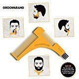 groomarang Barba peine & Plantilla para la barba Barba perfecta y bartfom, Styling, afeitado la barba línea, symet eléctrico Barba by blissany