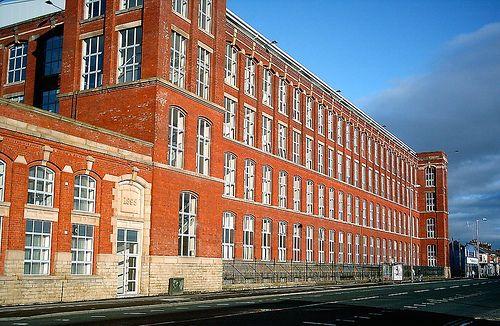 Horrockses Mill (Frontage). 1895. On New Hall Lane, Preston, Lancashire. UK. by JohnnyEnglish, via Flickr