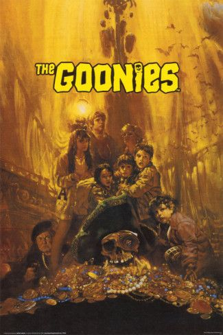 The Goonies PosterMovie Posters, 80S Movie, Goonies,  Dust Jackets, Kids Movie, Favorite Movie,  Dust Covers, Book Jackets,  Dust Wrappers