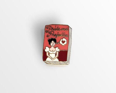 Book Badge Pin: Pride and Prejudice