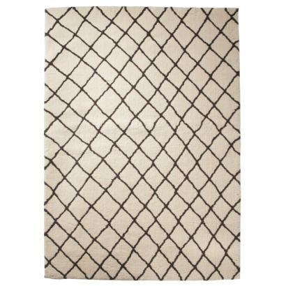 Threshold™ Criss Cross Fleece Rug - Gray
