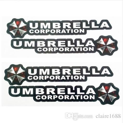 4PCS/lot Resident Evil Umbrella Corporation Logo Glue Sticker Car Decal Covers Waterproof for All cars on Car Handle Knob - $4.99