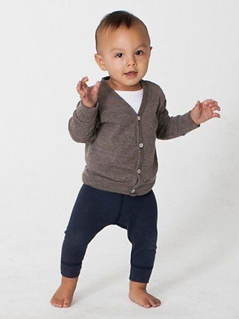 American Apparel Infant Tri-Blend Rib Cardigan: Clothing  -- baby fever, primarily just because of cute hipster baby cardigans.