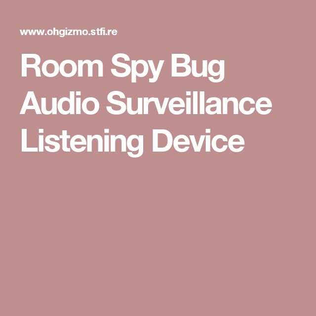 Room Spy Bug Audio Surveillance Listening Device