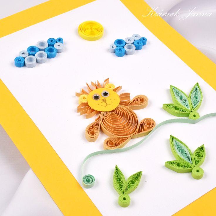 Quillingová přání a výrobky pro děti a s dětským motivem.
