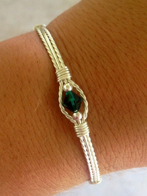 Personalized Wire Wrapped Birthstone Bracelet Birthstone Jewlery Handmade on Etsy, $13.75