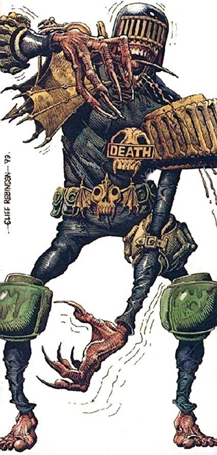 Judge Death - 2000AD comics - Judge Dredd enemy - Dark Judge