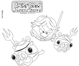 kleurplaten angrybirds star wars