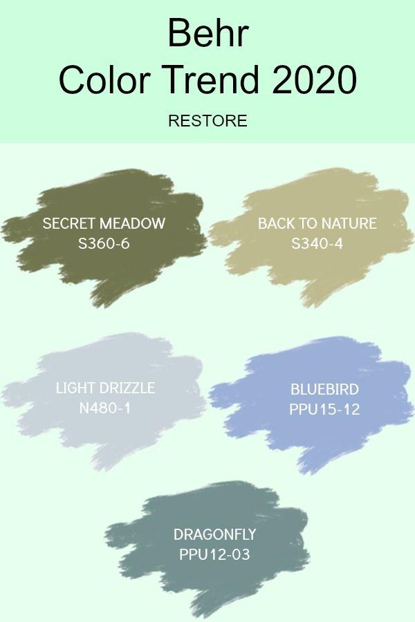 Behr Color Trend Paint Interior 2020 Trending Paint Colors Farmhouse Paint Colors Interior Colorful Interiors