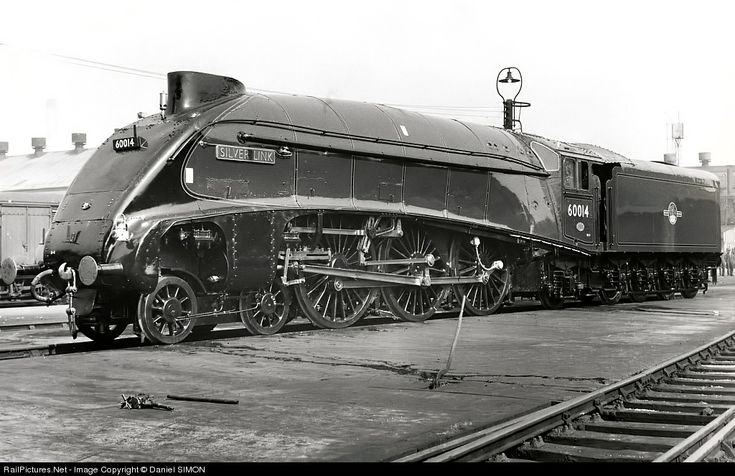 Here comes the next picture from the Timken archives. The Class A4 is a class of streamlined 4-6-2 steam locomotive, designed by Nigel Gresley for the London and North Eastern Railway in 1935. Their streamlined design gave them high-speed capability as well as making them instantly recognizable, and one of the class, 4468 Mallard, still holds the record as the fastest steam locomotive in the world. 35 of the class were built to haul passenger express trains on the route from London Kings…