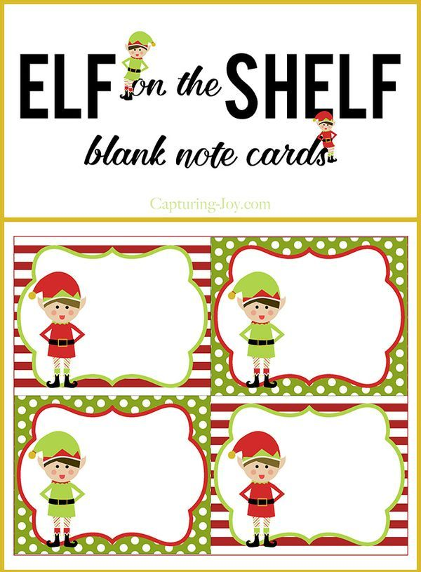 71 best elf on the shelf printables images on pinterest christmas elf on a shelf blank note cards for christmas free printable on capturing joy reheart