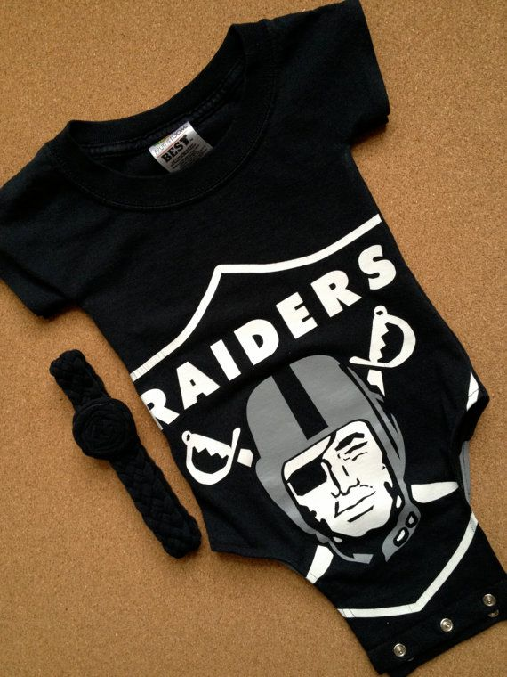 UpCycled Oakland Raiders TShirt Onesie With by craftinistagirl, $23.50
