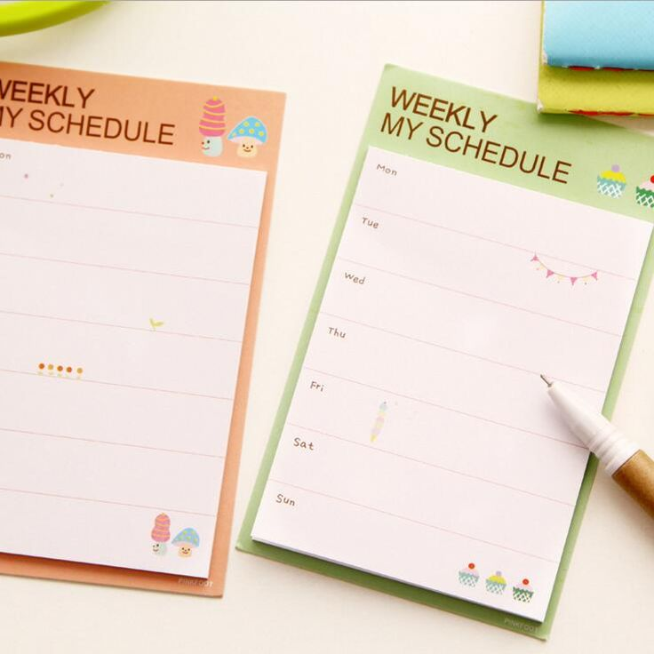 http://pt.aliexpress.com/item/Fresh-Style-Weekly-Schedule-Mini-Memo-Pad-N-Times-Sticky-Notes-Bookmark-School-Office-Supply-Escolar/32560434794.html?spm=2114.13010308.0.105.kCRVyH