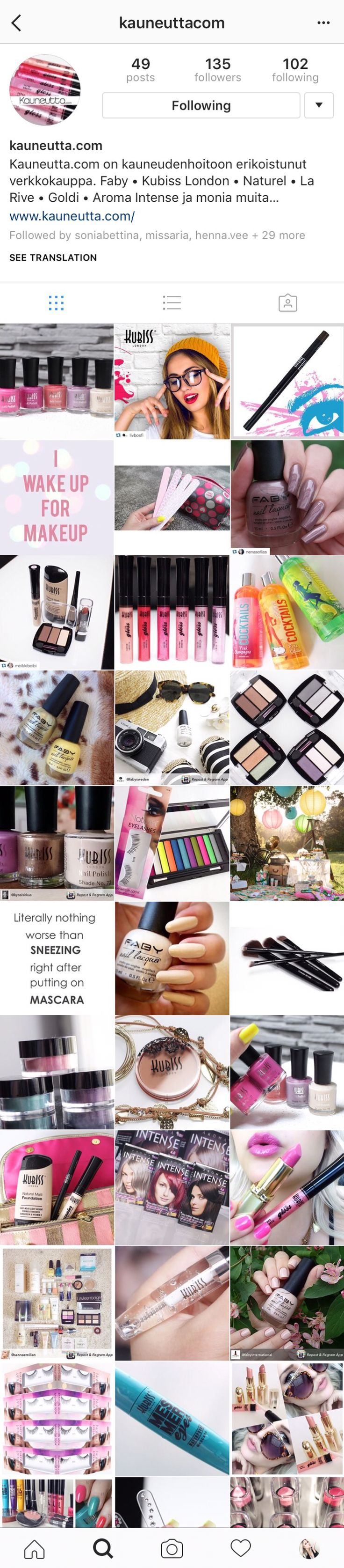 Creating and Upkeepinf an Instagram page, http://niinascoverdesign.weebly.com/