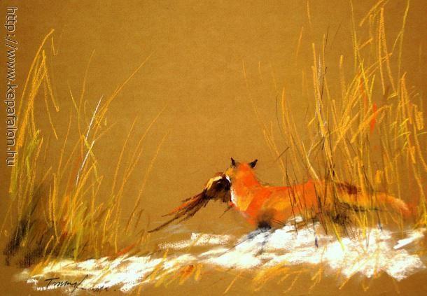 Tarcsay Béla - Vörös róka  című festménye