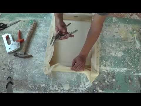 Imprimatura de lienzo para pintar al óleo. Gesso. Curso de pintura. - YouTube